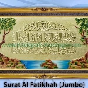 Kaligrafi Kuningan Al Fatihah (Jumbo)